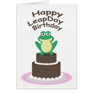 Happy Leap Day Birthday Card