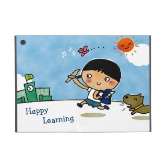Happy Learning Boy Heading to School with Puppy iPad Mini Cover