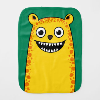Happy leopard burp cloth
