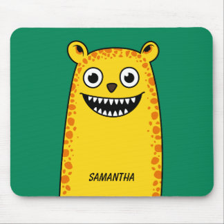 Happy leopard mouse pad