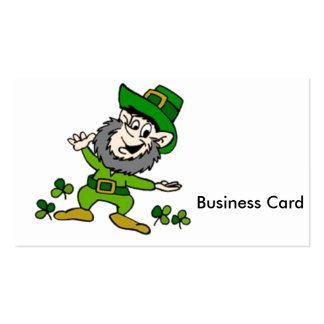 Happy Leprechaun Pack Of Standard Business Cards