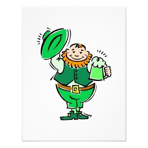 Happy Leprechaun Custom Invitation