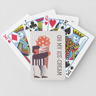 Happy Life- Ice Cream Bicycle Playing Cards