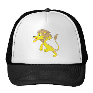 Happy Lion Cartoon Trucker Hats