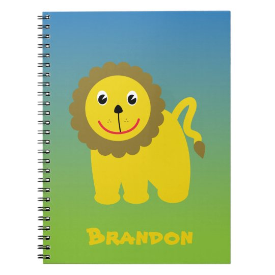 Happy lion notebook