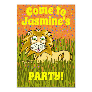 Happy Lion Party Invitation