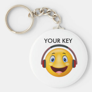 Happy listening music key ring