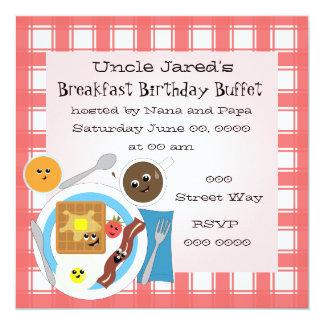 Happy Little Breakfast 13 Cm X 13 Cm Square Invitation Card