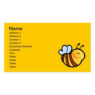 HAPPY LITTLE BUMBLEBEE BEE CARTOON CUTE HONEY INSE BUSINESS CARDS