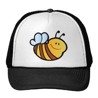 HAPPY LITTLE BUMBLEBEE BEE CARTOON CUTE HONEY INSE TRUCKER HAT