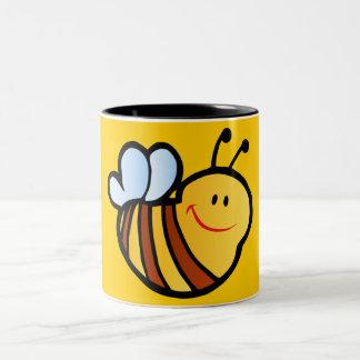 HAPPY LITTLE BUMBLEBEE BEE CARTOON CUTE HONEY INSE MUG