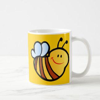HAPPY LITTLE BUMBLEBEE BEE CARTOON CUTE HONEY INSE COFFEE MUGS