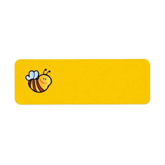 HAPPY LITTLE BUMBLEBEE BEE CARTOON CUTE HONEY INSE RETURN ADDRESS LABEL
