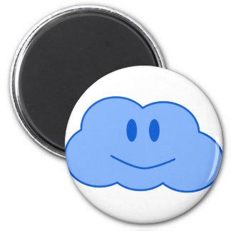 Happy Little Cloud 6 Cm Round Magnet