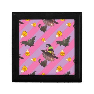Happy Little Halloween Bat and Cat Gift Box