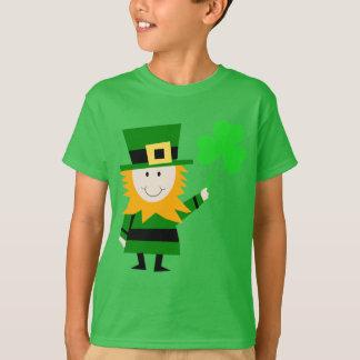 Happy Little Leprechaun Kids' Green T-Shirt