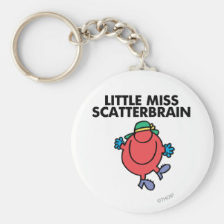 Happy Little Miss Scatterbrain Basic Round Button Key Ring