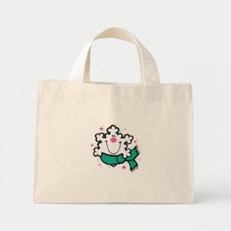 happy little snowflake canvas bag