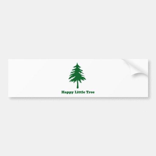 Happy Little Tree Bumper Stickers