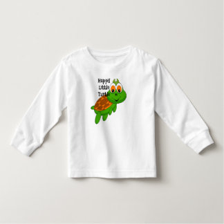 Happy Little Turtle Long Sleeve Toddler Shirt