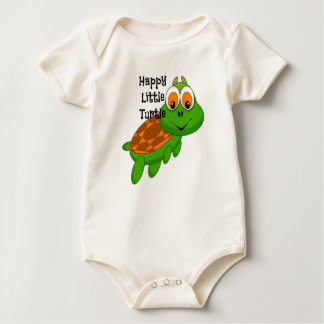 Happy Little Turtle Organic Baby Bodysuit