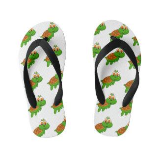 Happy Little Turtle Toddle Flip Flops