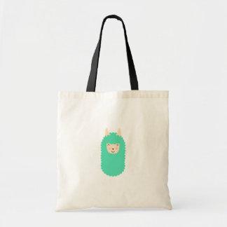 Happy Llama Emoji Budge Tote Bag