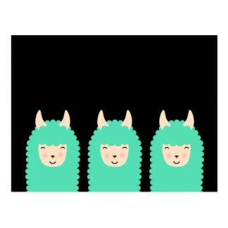 Happy Llama Emoji Postcard