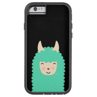 Happy Llama Emoji Tough iPhone Case