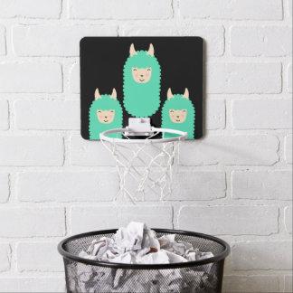 Happy Llama Emojis Mini Basketball Hoop