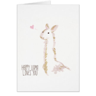 Happy Llama Loves You Greeting Card