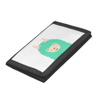 Happy Llama Peekaboo Emoji Wallet