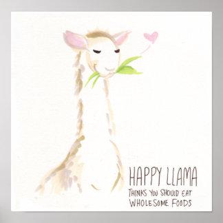 Happy Llama Yummy! Poster