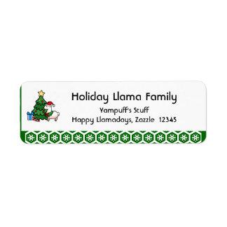 Happy Llamadays Return Address Label