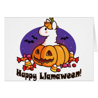Happy Llamaween Card