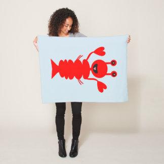 Happy Lobster art By Abundancelovetrip Fleece Blanket