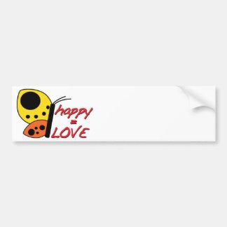 Happy = Love Bumper Sticker