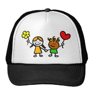 happy lover with heart shape balloon cap