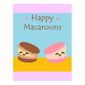 Happy Macaroons Postcard