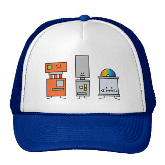 Happy Machine Robots Mesh Hats