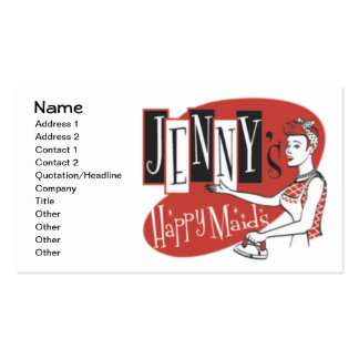Happy Maids Pack Of Standard Business Cards
