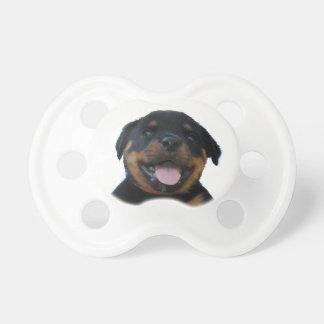 Happy Male Rottweiler Puppy Dummy