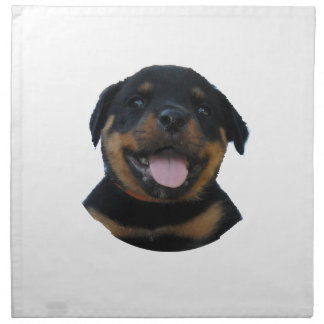 Happy Male Rottweiler Puppy Napkin