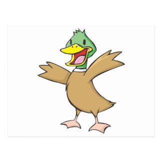 Happy Mallard Duck Cartoon Postcard