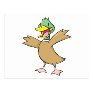 Happy Mallard Duck Smiling Postcards
