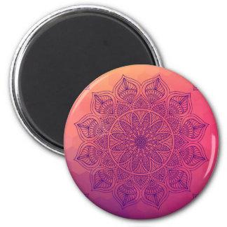 Happy mandala 6 cm round magnet