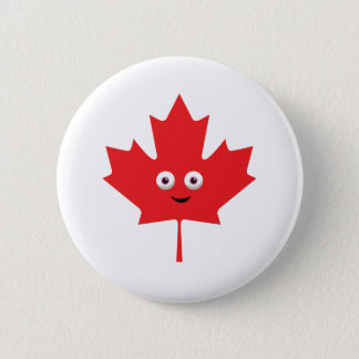 Happy Maple Leaf 6 Cm Round Badge