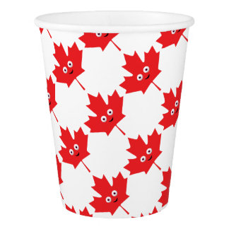 Happy Maple Leaf Paper Cup
