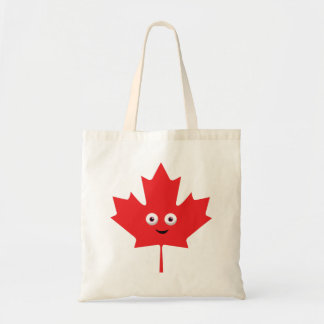 Happy Maple Leaf Tote Bag