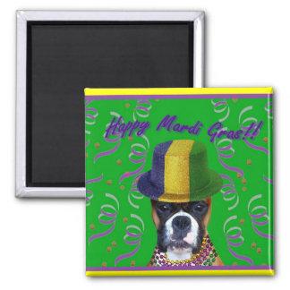 Happy Mardi Gras Boxer magnet